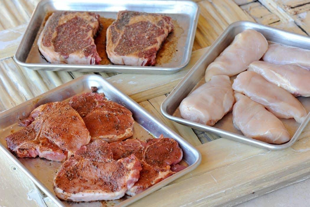 Pork Chicken and Steak