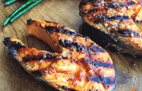 Sour Cherry Glazed Grilled Salmon | Girls Can Grill