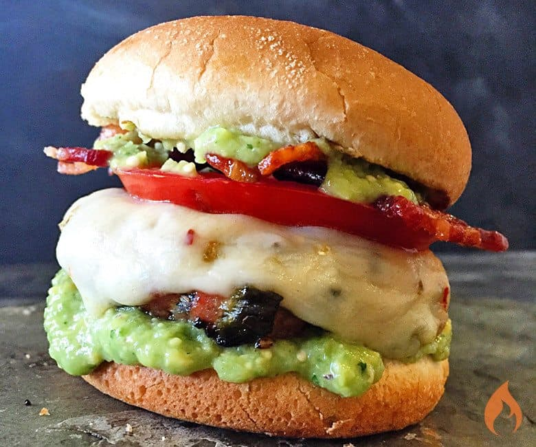 Anaheim Turkey Burger
