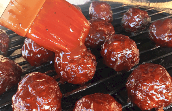 Grilled BBQ Meatballs