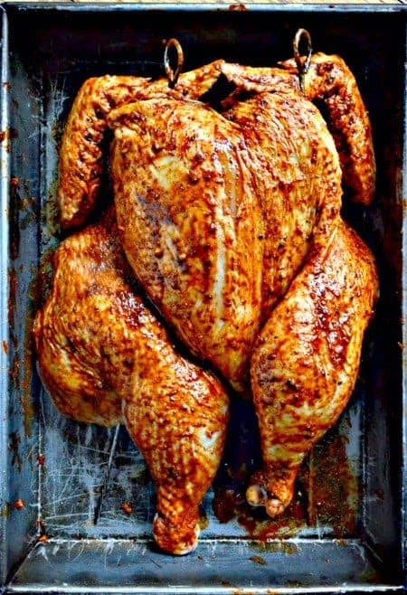 Grilled and Lightly Smoked, Peruvian Chicken and a Chile Spice Rub