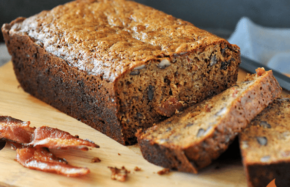 Smoked Bacon Banana Bread