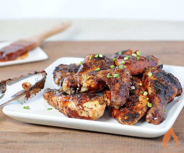 grilled chicken with barbecue sauce