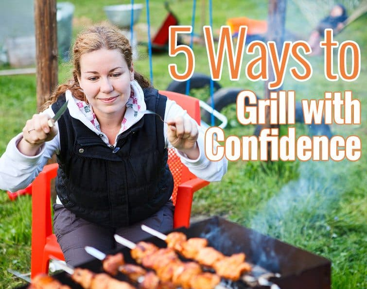 women behind grill with kabobs - grill tips