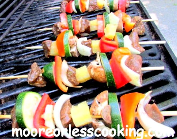 Easy Beef Kabobs from Moore or Less Cooking