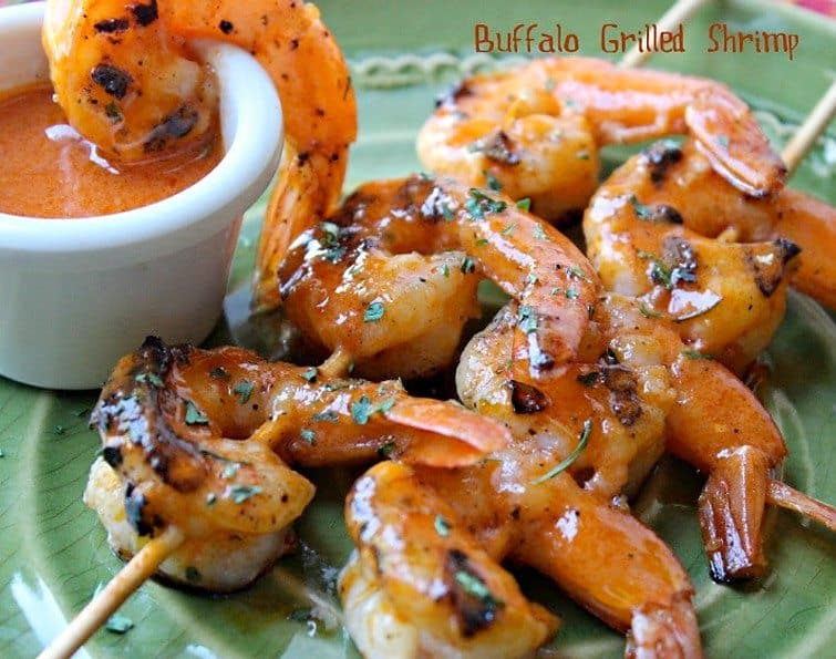 Buffalo Grilled Shrimp from Comfy Cuisine