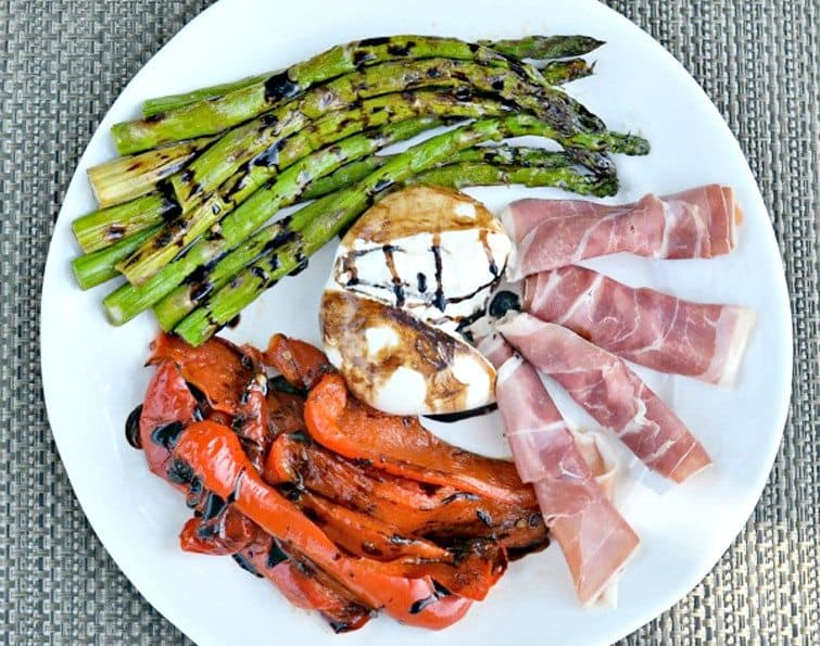Grilled Veggie Antipasto from A Jersey Girl Cooks #GirlsCanGrill