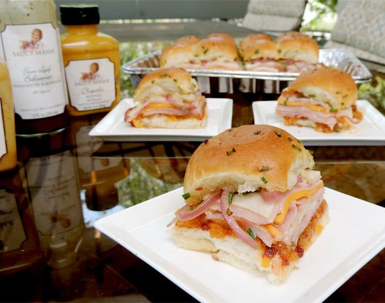 In-or-Out Ham and Cheese Melts from A Merry Recipe #GirlsCanGrill