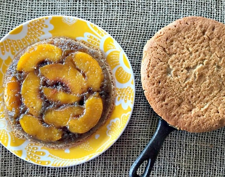Grilled Peach Upside-Down Cake from Peanut Butter and Julie
