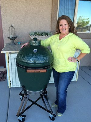 Christie and her Big Green Egg