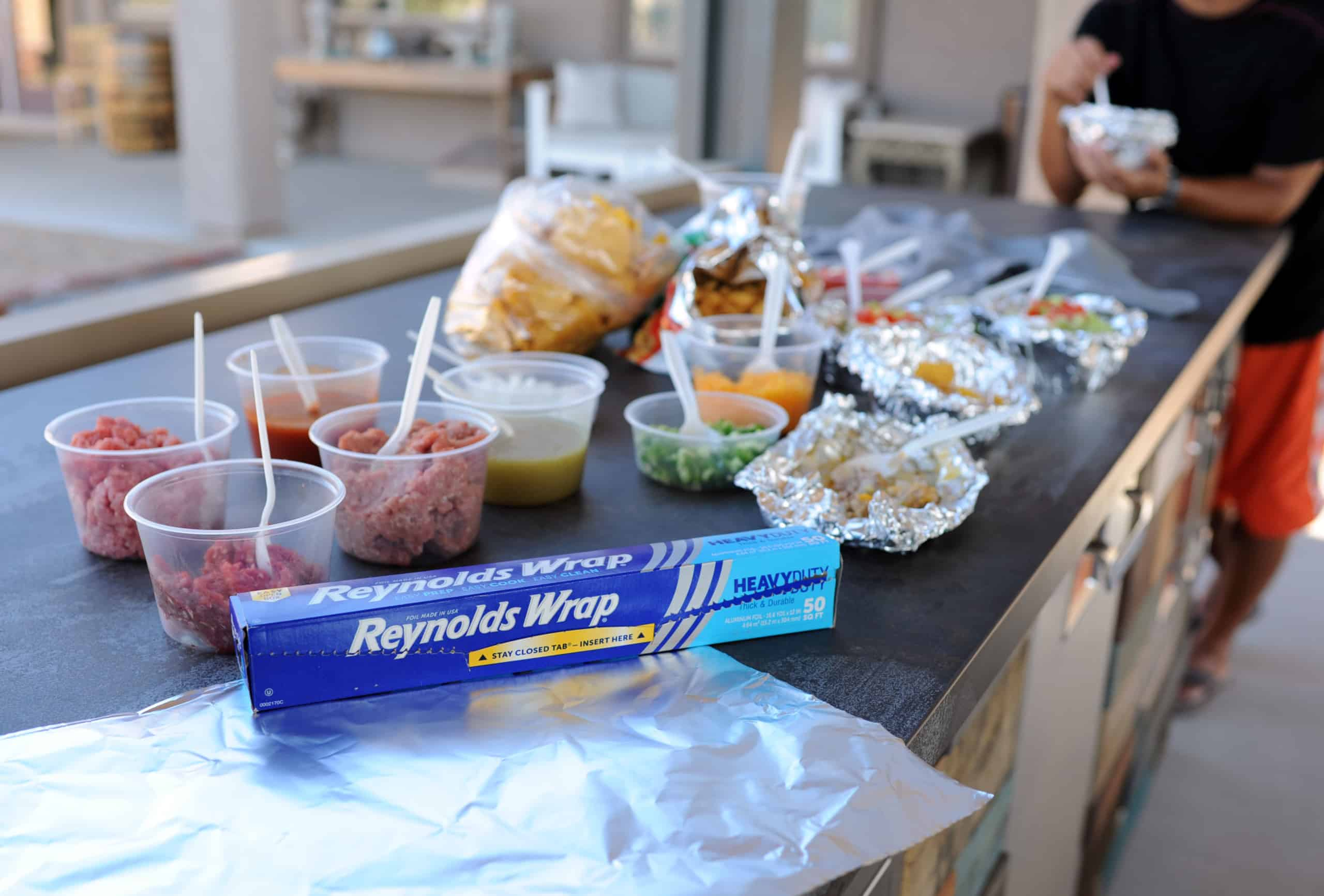 reynolds wrap with walking taco toppings