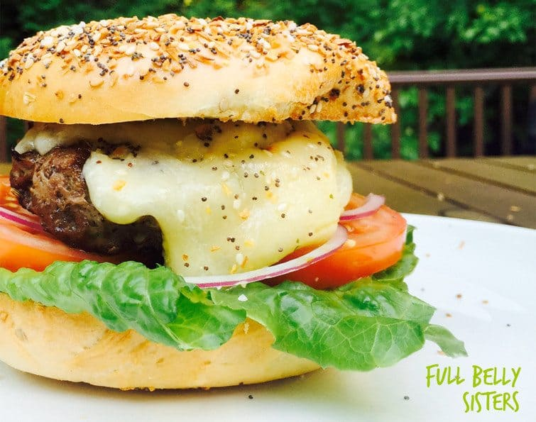 Everything Bagel Cheeseburger from Full Belly Sisters