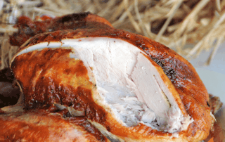 Grilled Olive Juice Brined Turkey from Girls Can Grill
