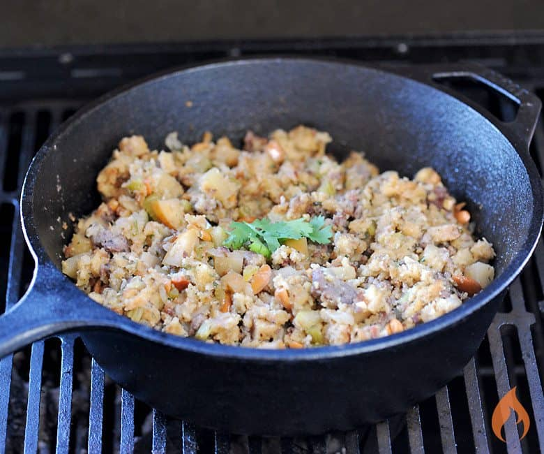 Grilled Sausage Stuffing from Girls Can Grill
