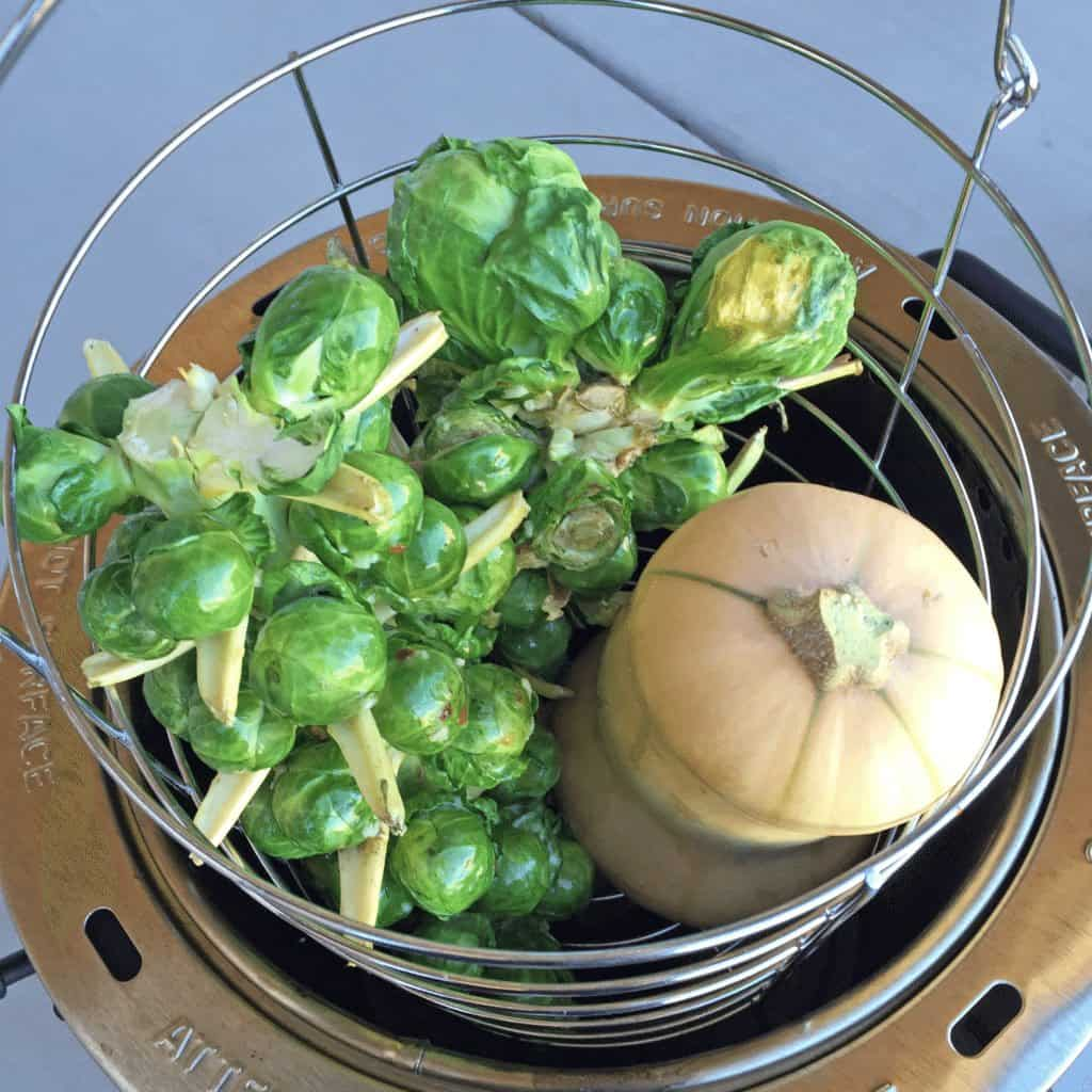 Vegetarian Thanksgiving using a Turkey Fryer from Girls Can Grill