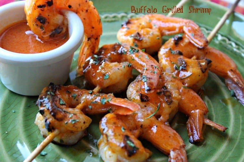 Buffalo Grilled Shrimp from Comfy Kitchen