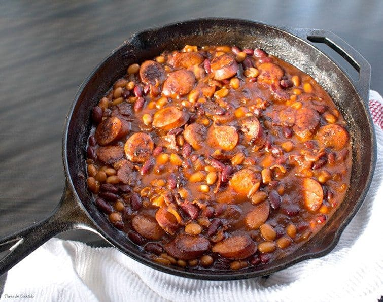 Chipotle Bourbon Porky Beans from Thyme for Cocktails