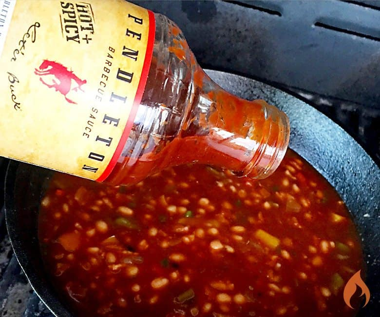 Pendleton Hot + Spicy Baked Beans | Girls Can Grill