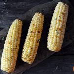 Grilled Corn on slate platter