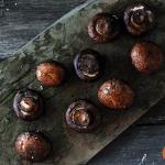 Grilled Mushrooms on slate platter