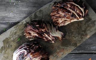 Grilled Radicchio on slate platter