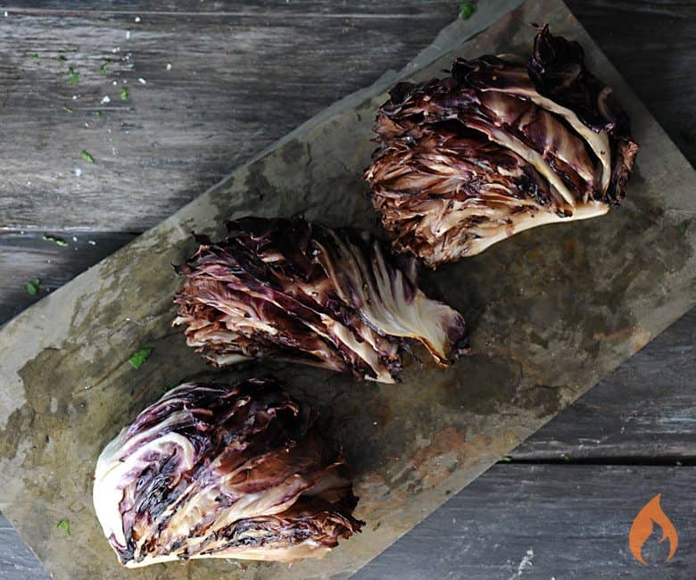 Grilled Radicchio on slate platter