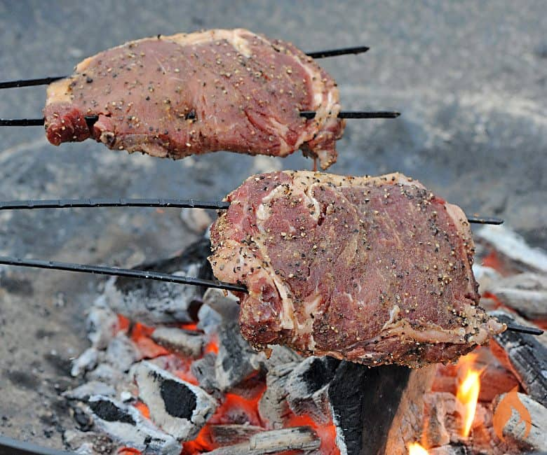 Campfire Steak On A Stick Girls Can Grill