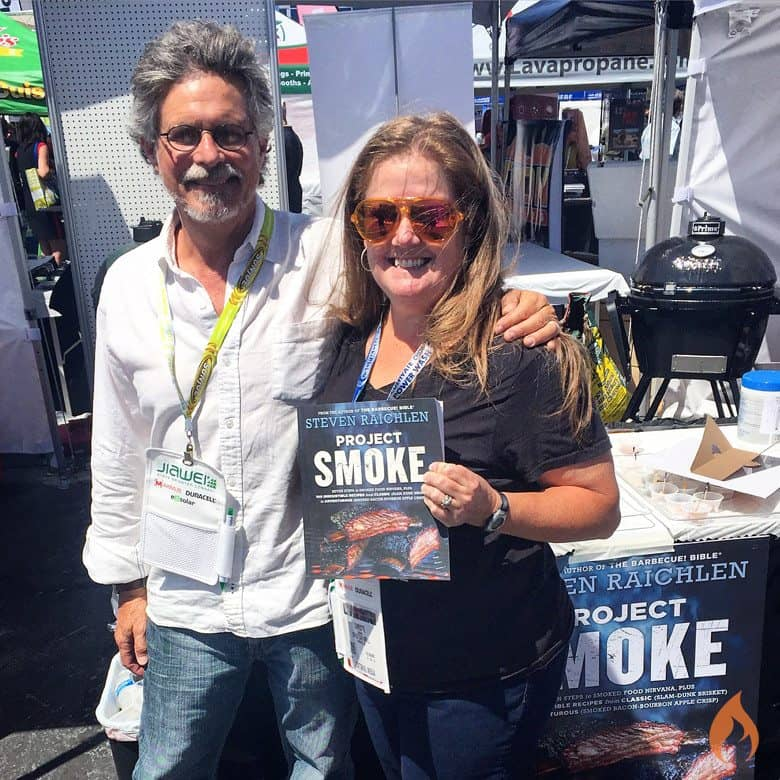 Steven Raichlen and Christie Vanover from Girls Can Grill