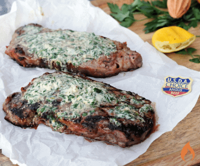 Green Goddess Butter Strip Steak