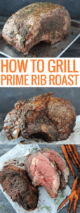 grilled whole prime rib and grilled sliced prime rib