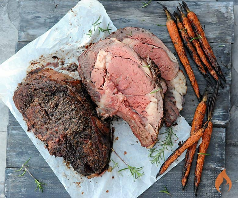 Grilled Prime Rib Roast - one of the best prime rib recipes, plus tips, tricks, and tools for the perfect beef roast for the holidays. #AD