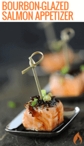 Bourbon-Glazed Salmon Appetizer