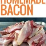 pile of raw homemade bacon