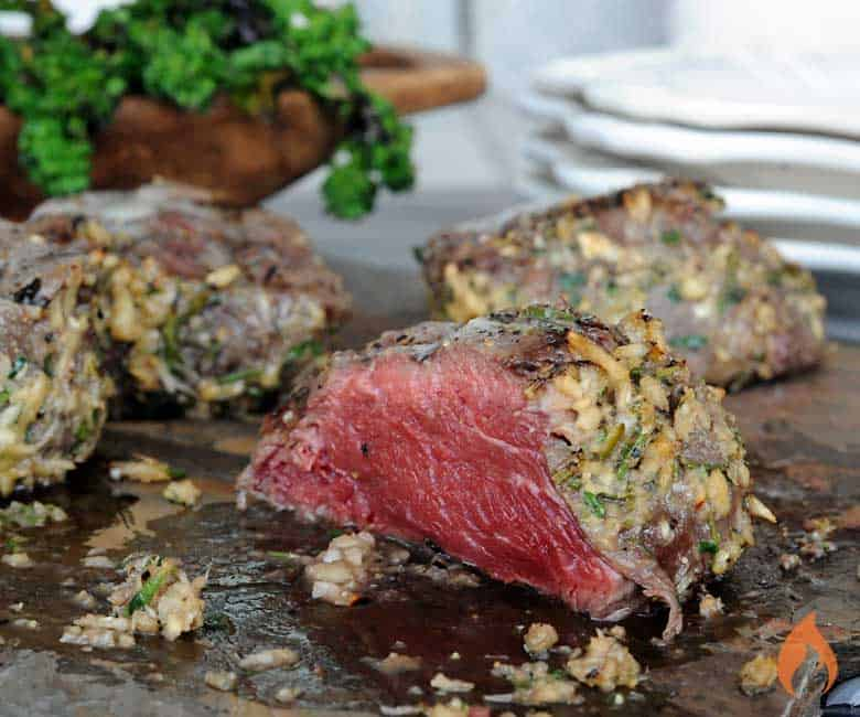 Grilled Horseradish Crusted Filet Mignon Steaks
