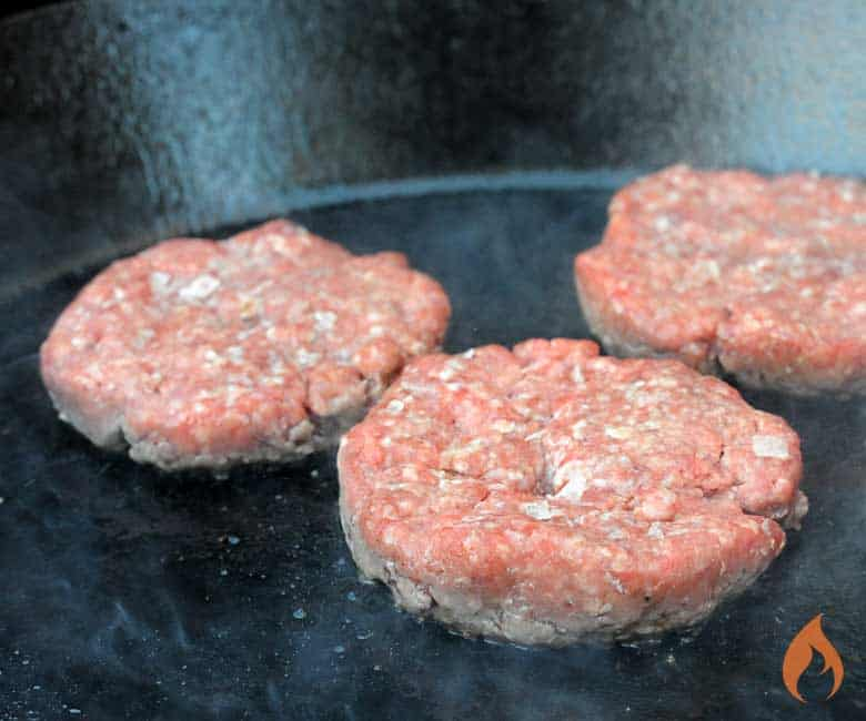Grilling Burgers on a Plancha
