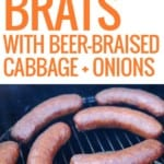 three different pictures of bratwursts