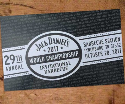 2017 Jack Daniel's World Championship Invitational Barbecue Agenda