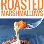 forkful of sweet potatoe and marshmallows