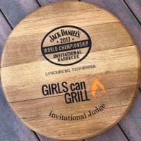 wooden barrel head