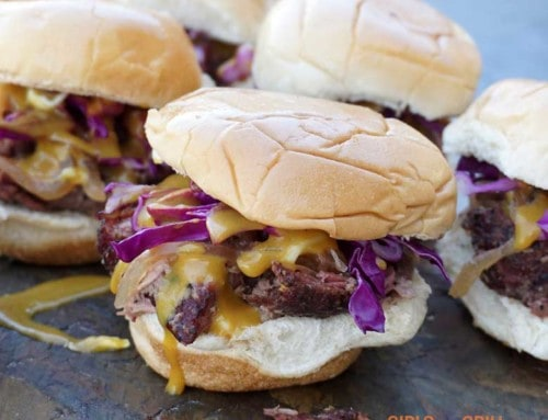 Smoked Pulled Aussie Lamb Sliders with Carolina Barbecue Sauce