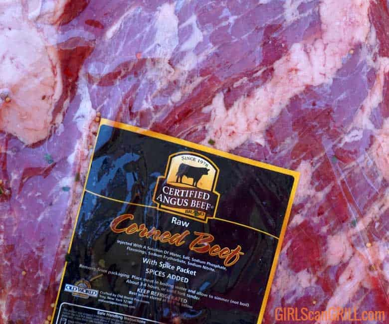 close up of Certified Angus Beef brand label