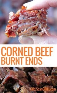 fingers squeezing corned beef burnt end
