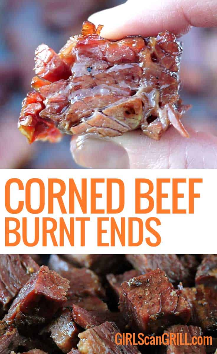 Beer Braised Smoked Corned Beef Burnt Ends Girls Can Grill