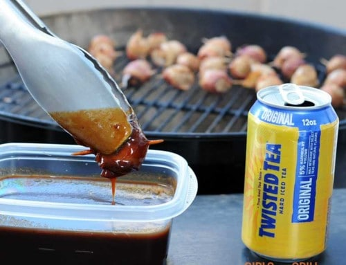 Twisted Tea Chipotle Bacon-Wrapped Meatballs
