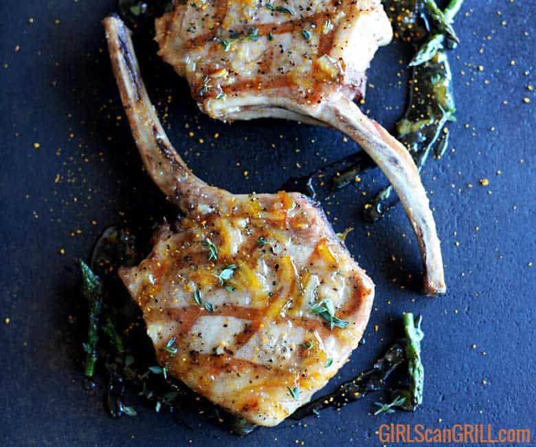 Juicy Grilled Pork Chops with Cumin Orange Marmalade