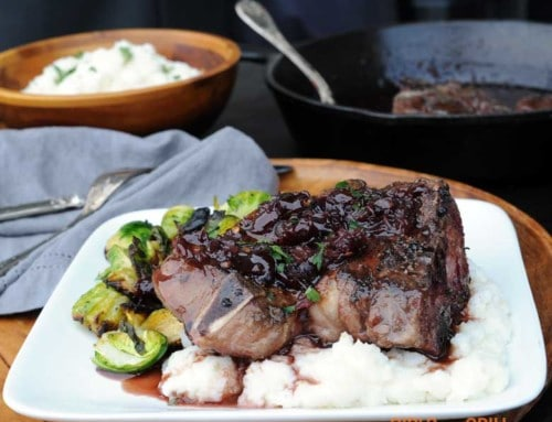 30-Minute Aussie Lamb Shoulder Chops with Cherry Port Wine Sauce