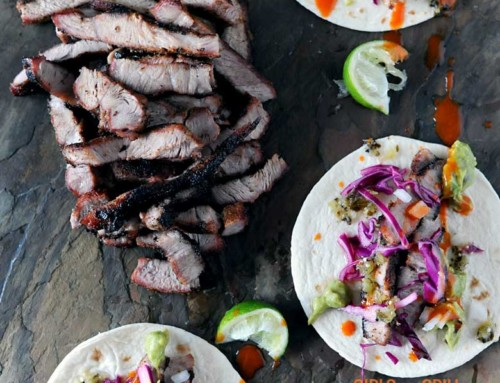 Grilled Pork Steak Tacos with Chipotle Rub