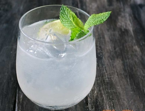 Smoked Mojito with Smoked Mint Simple Syrup