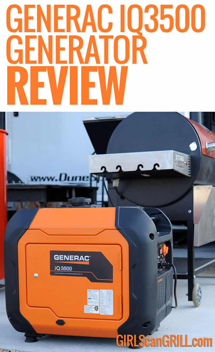 The Generac iQ3500 is a quiet generator that provides all the power I need for BBQ competitions and weekend trips in the RV.