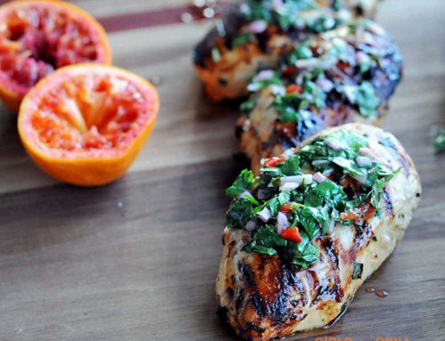 Grilled Chicken with Blood Orange Chimichurri